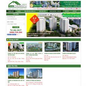 Mẫu Website Bán Và Giới Thiệu Bất động Sản Nhà đất Nhiều Dự án SBW139