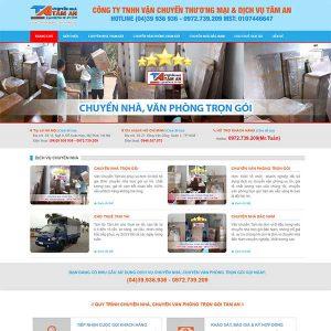 Mẫu Website Dịch Vụ Chuyển Nhà Trọn Gói SBW142