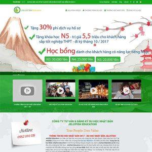 Mẫu Website Du Học Nhật Bản SBW162
