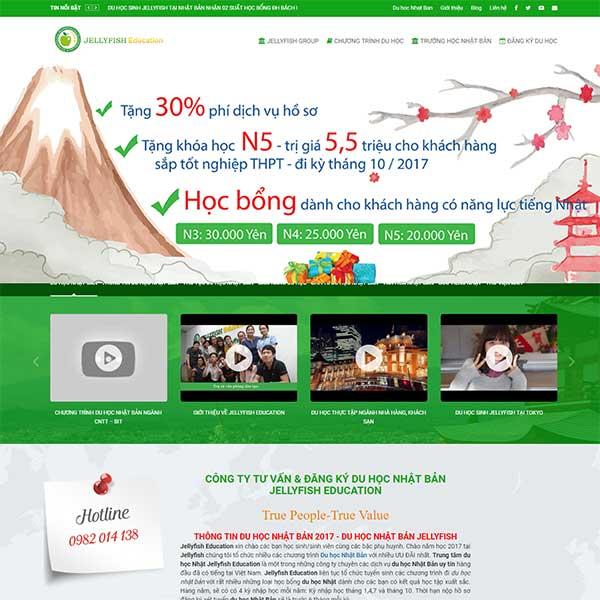 mẫu website trung tâm du học