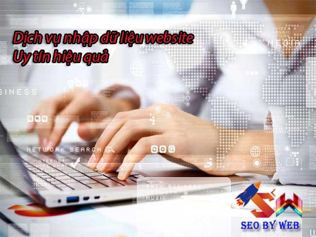 Dịch vụ nhập liệu website