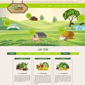 Mẫu Website Thực Phẩm Sạch Kiểu Nông Trang Trại SBW161