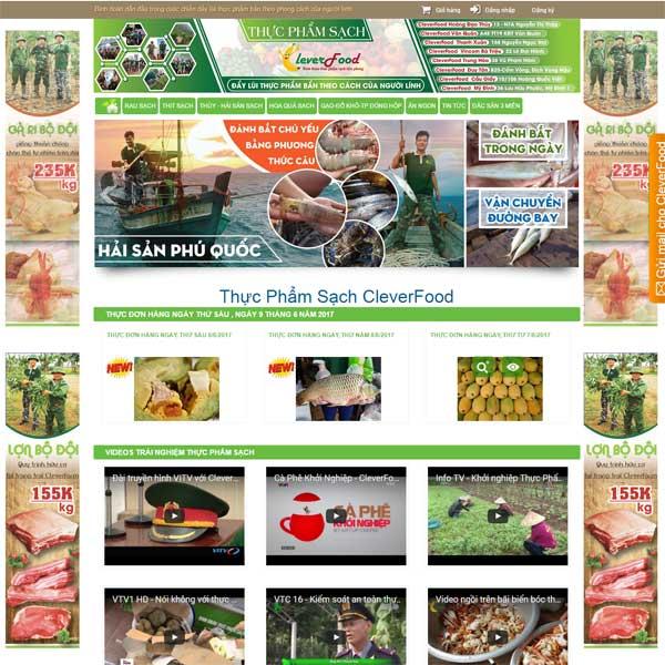 mẫu website bán thực phẩm sạch