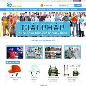 Mẫu Website Bán Thiết Bị Và Dụng Cụ Bảo Hộ Lao động SBW171