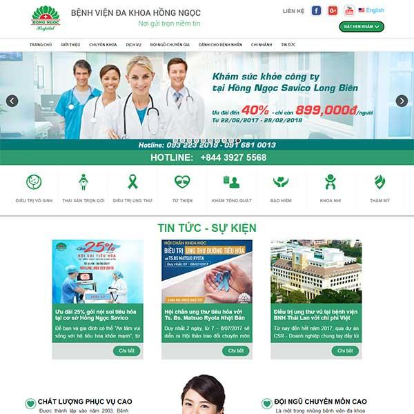 mẫu website bệnh viện