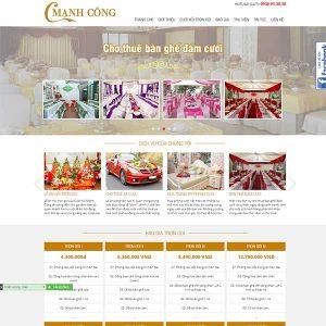 Mẫu Website Dịch Vụ Cưới Hỏi Trọn Gói SBW170