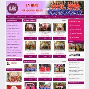 Mẫu Website Dịch Vụ Cưới Hỏi Trọn Gói SBW172