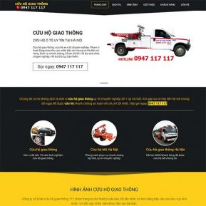 Mẫu Website Dịch Vụ Cứu Hộ ô Tô 24/7 SBW157