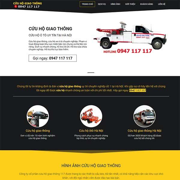 mẫu website dịch vụ cứu hộ ô tô