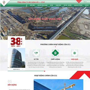 Mẫu Website Công Ty Xây Dựng SBW165