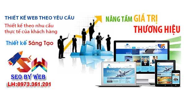 thiết kế website theo yêu cầu chuyên nghiệp