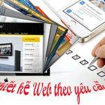 Thiết kế website theo yêu cầu tạo dấu ấn riêng cho doanh nghiệp.