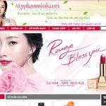 Thiết kế website mỹ phẩm chuyên nghiệp giao diện đẹp