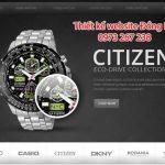 Thiết kế website bán đồng hồ giao diện đẹp chuyên nghiệp