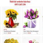 Thiết kế website bán hoa-Shop hoa chuyên nghiệp bắt mắt