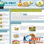 Thiết kế website bán đồ ăn chay giá rẻ chuyên nghiệp nhất