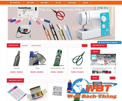 Thiết kế website bán máy khâu