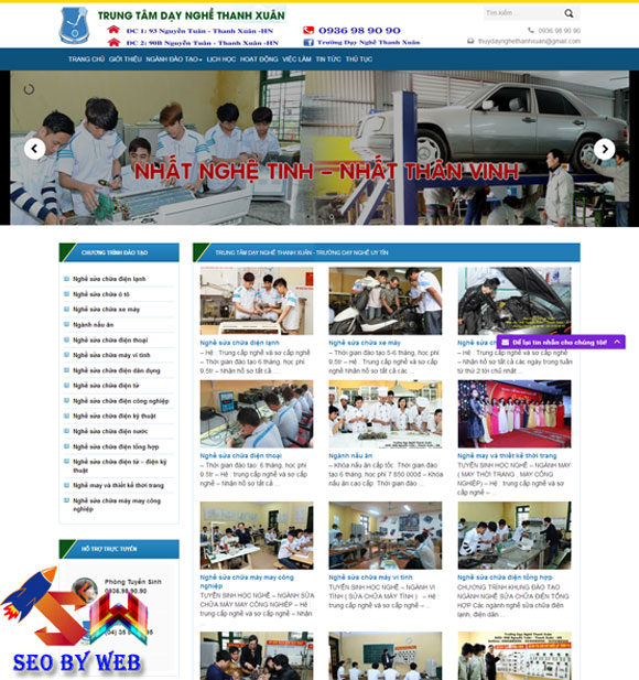 mau-website-trung-tam-day-nghe