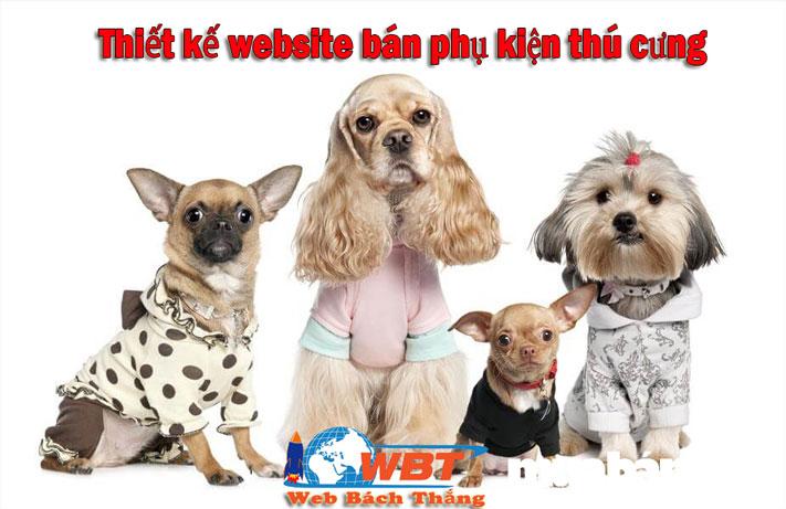 Thiết kế website bán phụ kiện thú nuôi tại Seo by Web