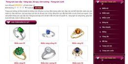 Thiết Kế Website Bán Vàng Bạc đá Quý