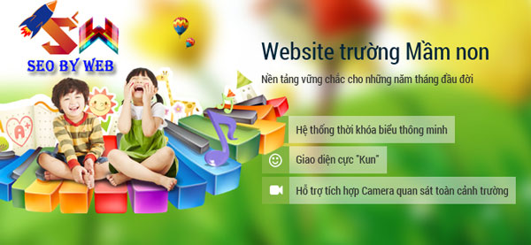 Thiết kế website trường mầm non đẹp bảo hành web vĩnh viễn