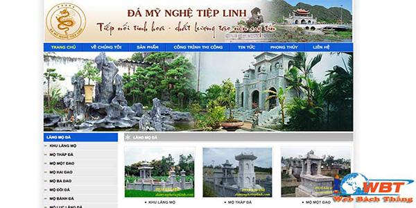 Thiết kế website đá mỹ nghệ uy tín