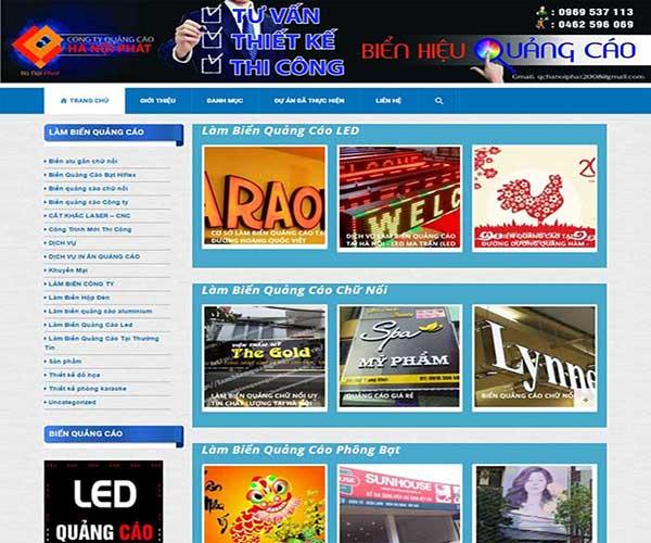 Thiết kế website làm biển quảng cáo uy tín