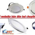 Thiết kế website bán đèn led cao cấp uy tín chuẩn seo